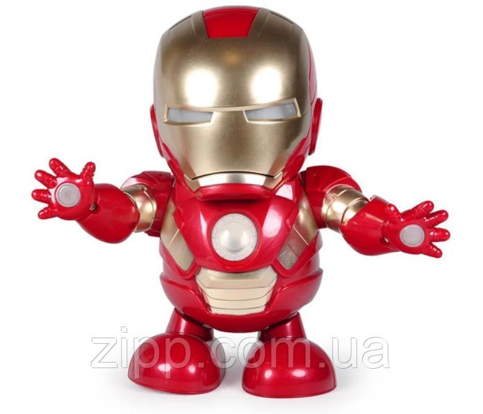 Танцующий робот | Интерактивная игрушка IRON MAN | Танцующий железный человек