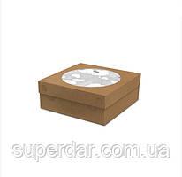 Коробка для Тортів, пирогів 235х235х90 Крафт (ящ: 200 шт)