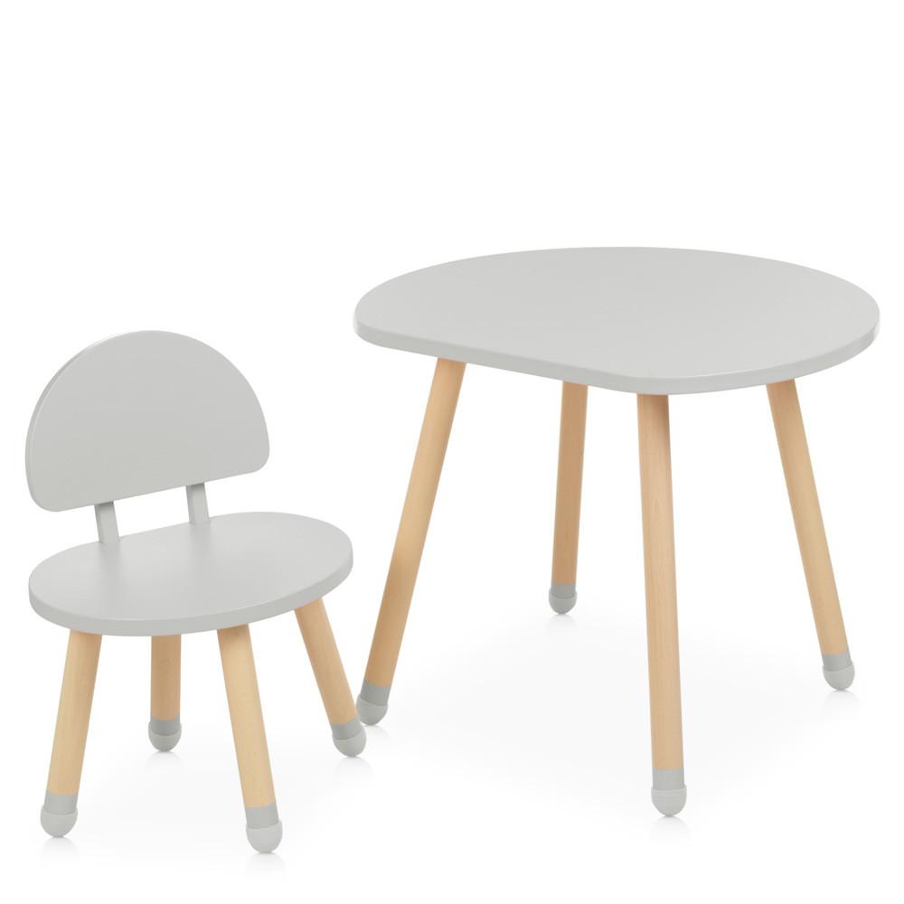 Столик детский со стульчиком M 4254 Mushroom Грибочек, gray