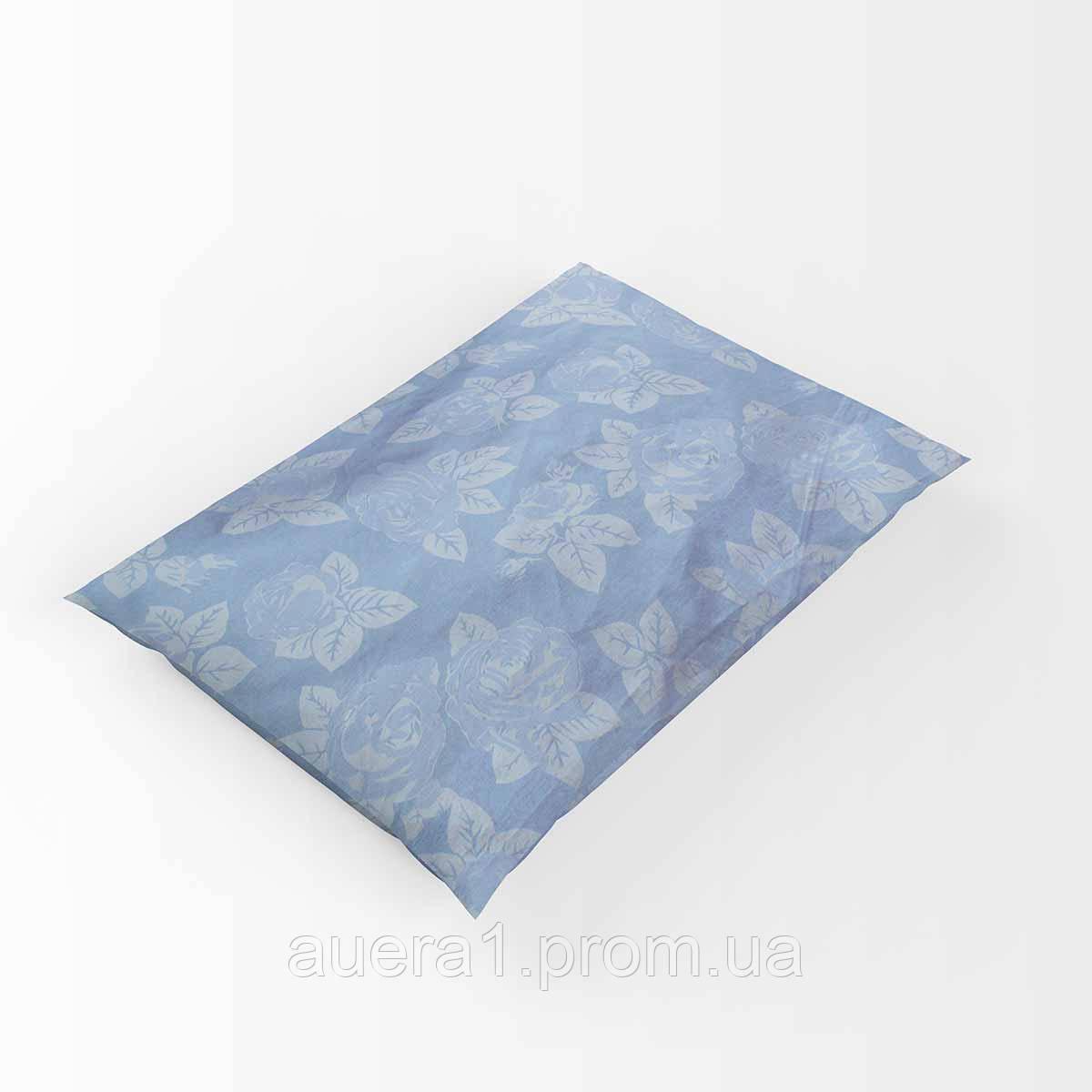 Наперник без канта тик 701 синий 60х60 (р) 20%  молния