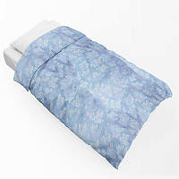 Наперник на одеяло тик 701 синий 120х190(р) с кантом 20%  стеганное