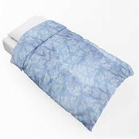 Наперник на одеяло тик 701 синий 90х190(р) без канта 20% молния
