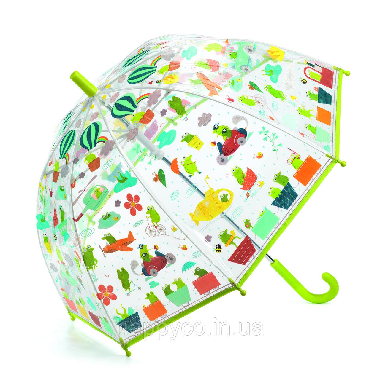 Зонтик детская лягушки зеленый (красный, салатовый, темно-красный) (DD04808)