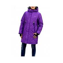 """Куртка парка зимняя для девочки """"Джил""""  Be Easy,  Размеры от 104 до 170,  Цвет - Лиловый"""