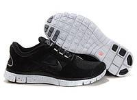 Кроссовки мужские беговые Nike Free Run Plus 3 (найк фри ран) черные