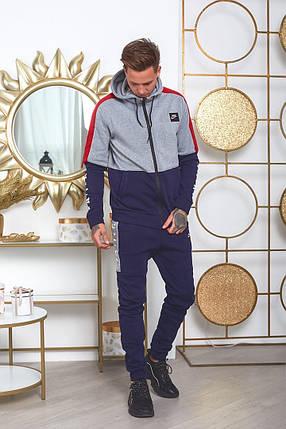 """Теплый мужской спортивный костюм """"AIR"""" с капюшоном и карманами, фото 2"""