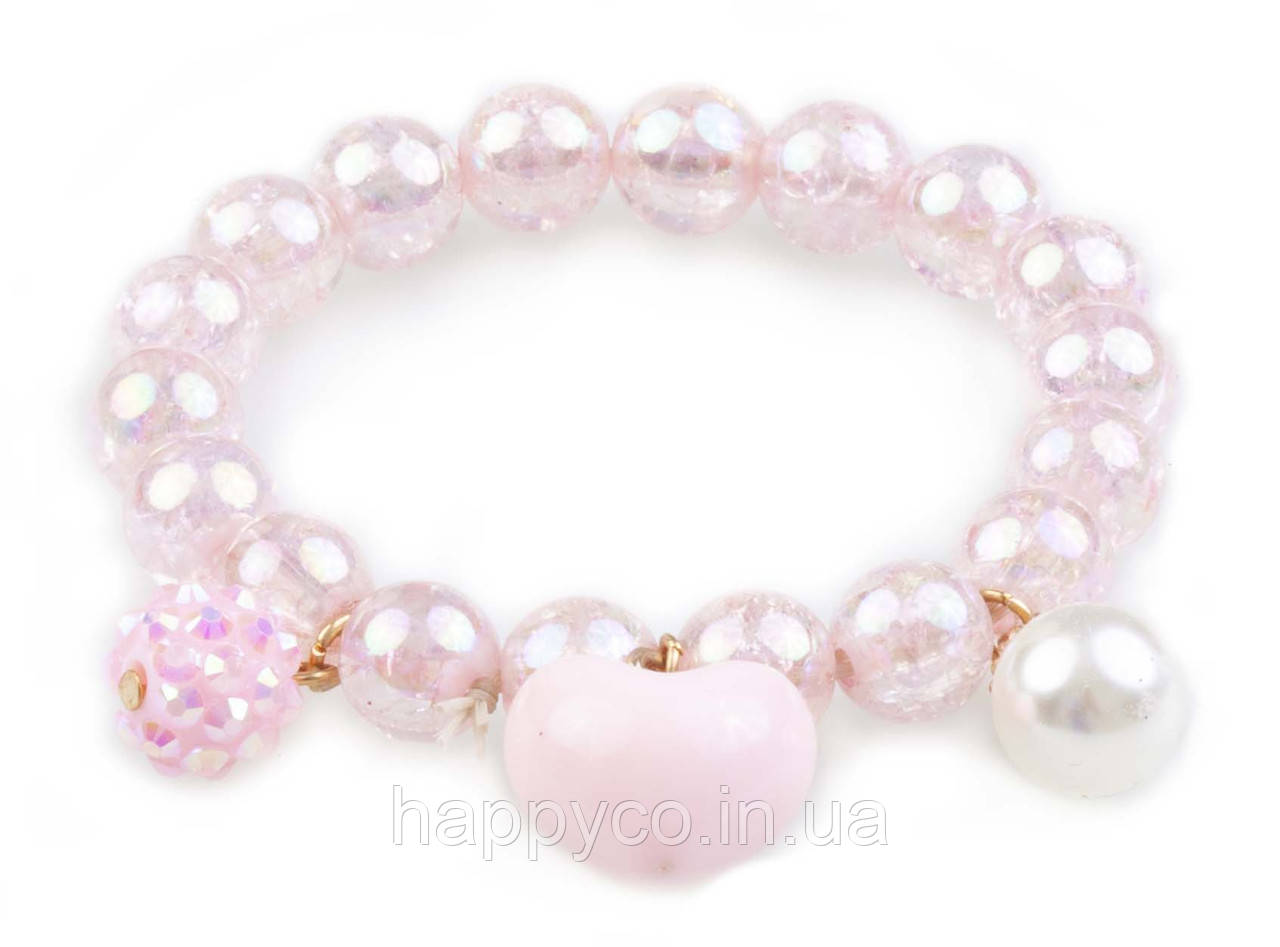 Great Pretenders Браслет Pink Heart Bobble