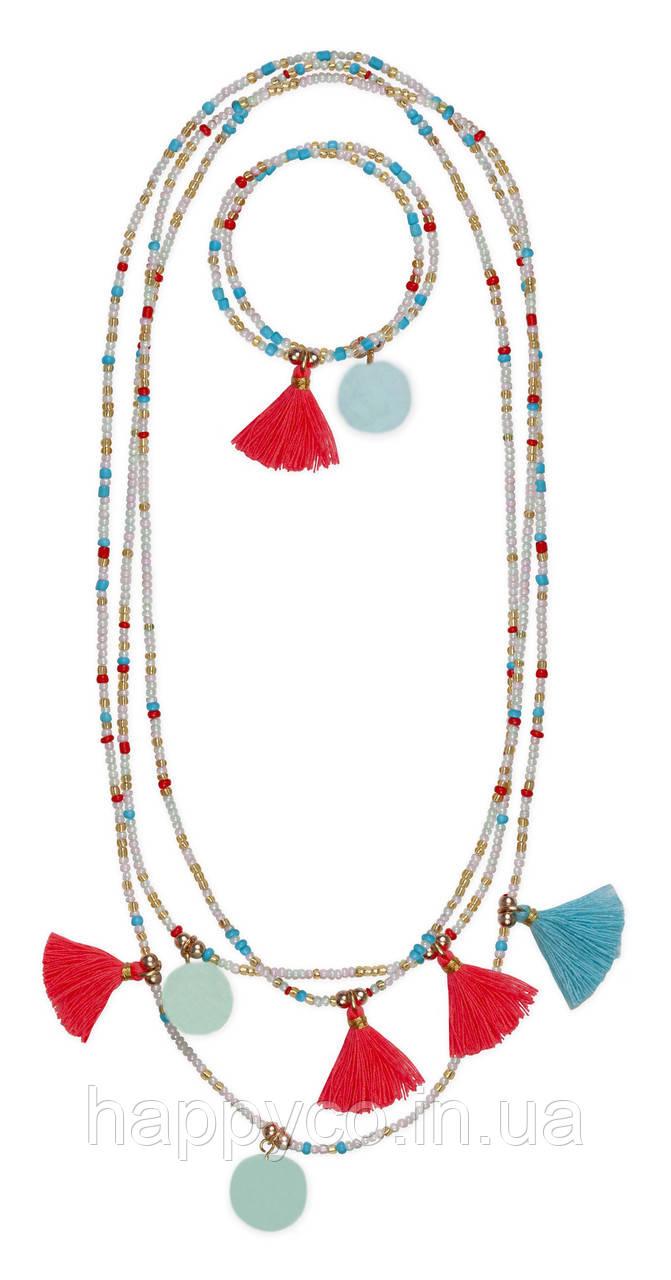 Набор украшений браслет и ожерелье