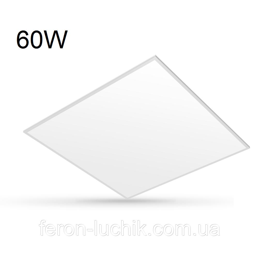 Светодиодная панель 60W VIDEX 600*600 встраиваемая под армстронг матовая 4100К/6000K