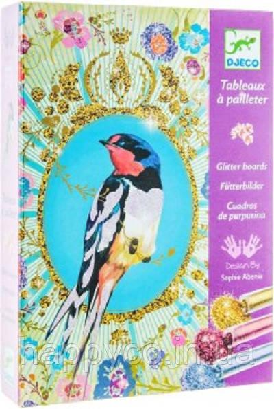 Джеко художественный комплект рисование блестками птицы с блестками