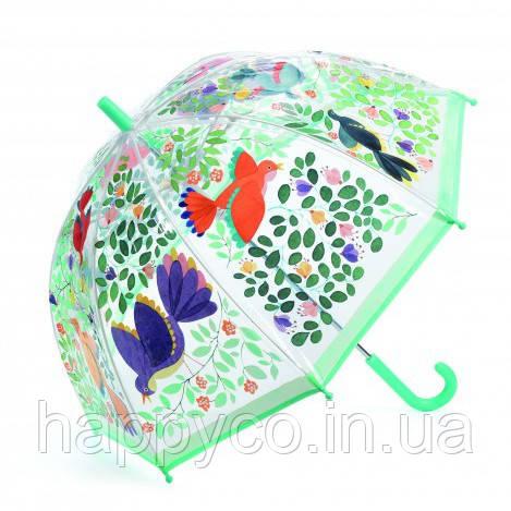 Зонт детский цветы и птицы