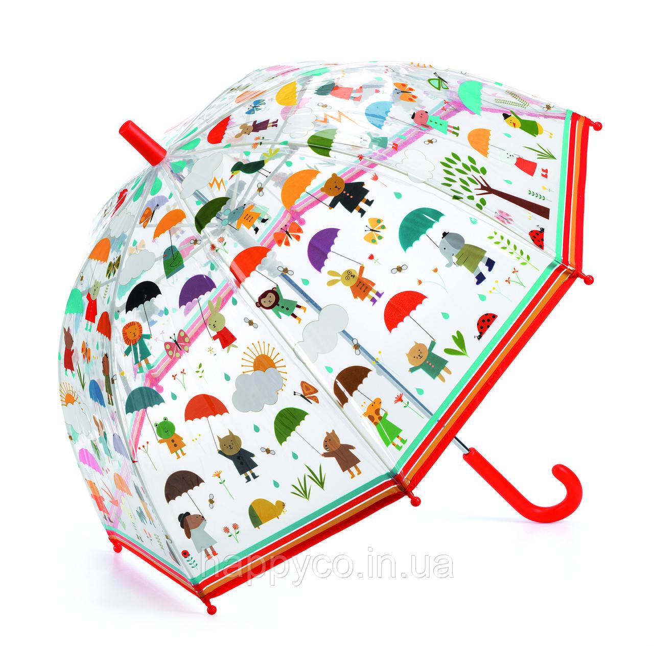 Зонт детский под дождем