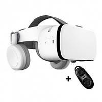 Очки шлем виртуальной реальности Bobo VR Z6 3D для смартфона с Наушниками и Пультом ДУ (Белый)