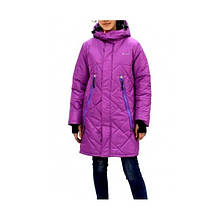 "Куртка парка зимняя для девочки ""Джил""  Be Easy,  Размеры от 104 до 170,  Цвет - Фрезовый"