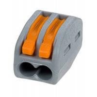 Клема сполучна пелюсткова універсальна подвійна (затискач проводів перетином 0.08 - 4 кв. мм, 32А)