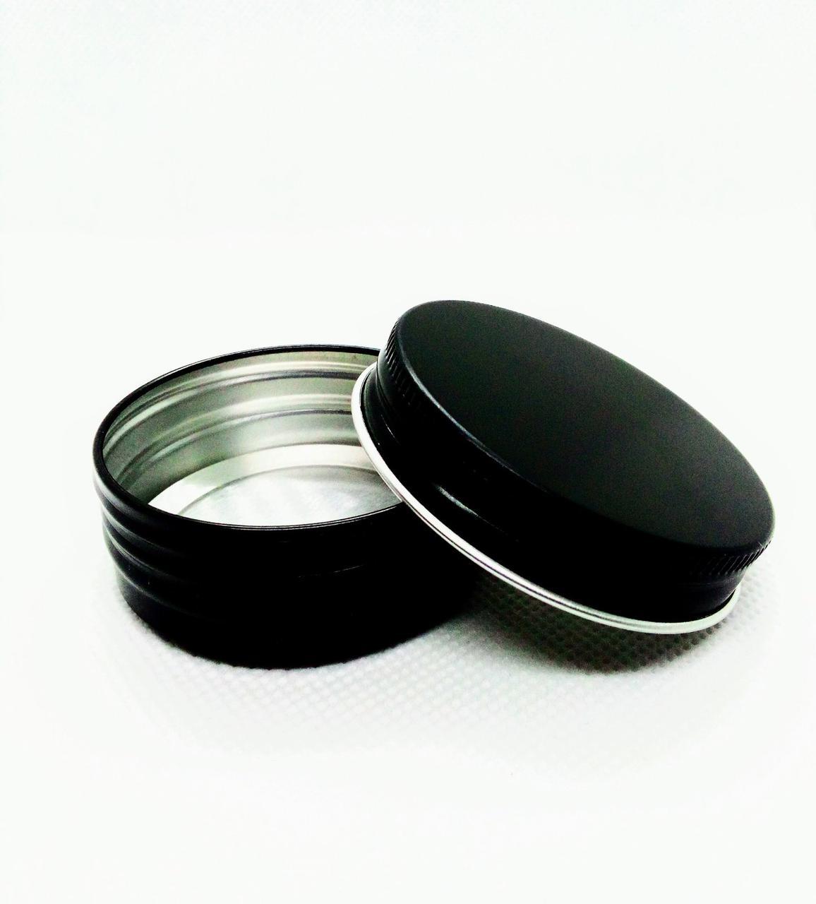 Баночка 30 мл алюмінієва чорна