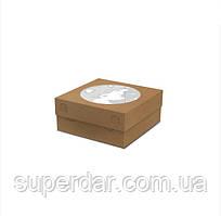 Коробка для Тортів, пирогів 205х205х90 Крафт (ящ: 200 шт)