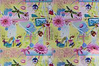 Упаковочная бумага для подарка с рисунком для девушек