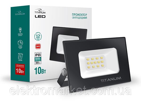 Прожектор Titanum IP65 10W 6000K 220V (TLF106)