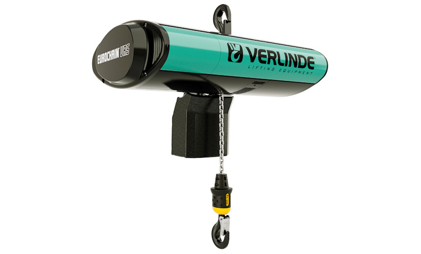 Таль электрическая HUCHEZ с регулируемой скоростью 500/8 м/мин, закрепленная на крюке