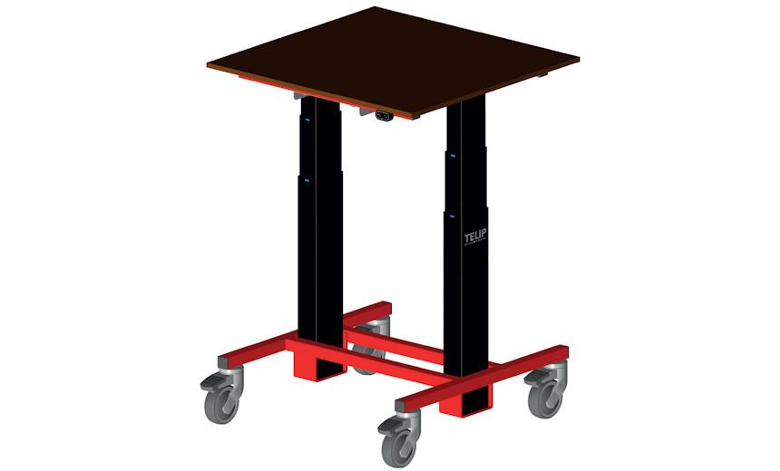 Эргономичный мобильный стол HUCHEZ TME125, грузоподъемность 125 кг
