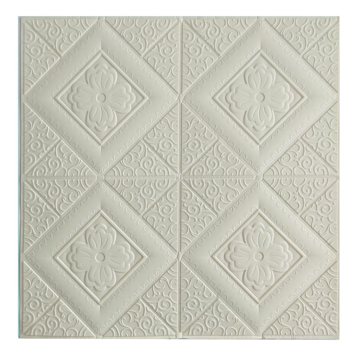 Потолочная панель ПВХ Узорные Ромбы (3Д панели мягкая для потолка потолочная плитка квадраты) 700*700*5 мм