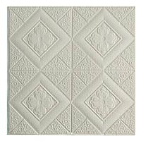 Потолочная панель ПВХ Узорные Ромбы (3Д панели мягкая для потолка потолочная плитка квадраты) 700*700*5 мм, фото 1