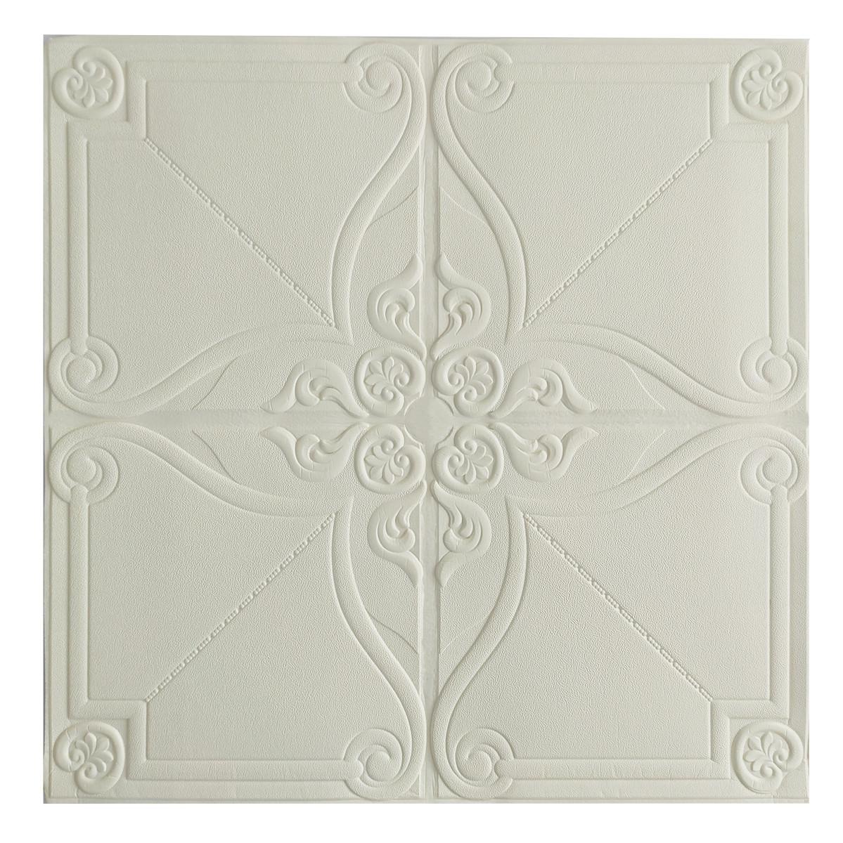 Потолочная панель ПВХ Орнамент Вензель (3Д панели самоклейка мягкая для потолка потолочная плитка 700*700*6 мм