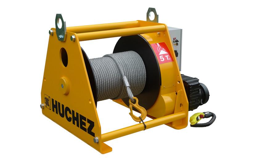 Лебедка электрическая HUCHEZ с большой грузоподъемностью TE 7500 кг/4м /мин, регулятор скорости