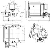 Лебедка электрическая HUCHEZ с большой грузоподъемностью TE 7500 кг/4м /мин, регулятор скорости, фото 3