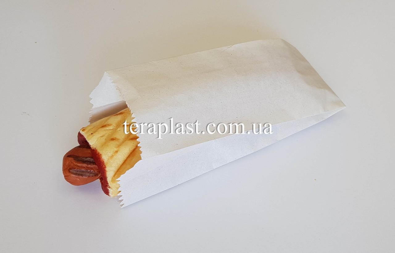 Бумажные пакеты саше для еды белые жиростойкие 90*50*220