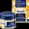 Ночной крем для зрелой кожи лица против морщин Balea с Q10 и Omega- комплексом