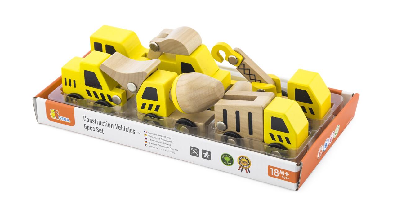 Набор игрушечных машинок Стройтехника Viga Toys 50541