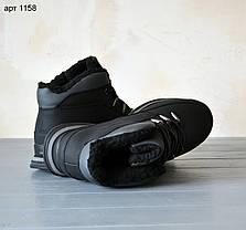 """Зимние ботинки с мехом Dragon Black """"Черные"""", фото 3"""