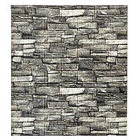 3д стінова панель декоративна Сірий Камінь (миючі 3d панелі для стін) кам'яна кладка 700x770x5 мм
