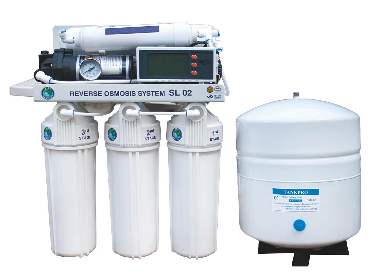 Система обратного осмоса Bio+ systems (мембр. Filmtec пр-во США) с насосом, блок управл.RO-75-SL02