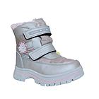 Зимние термо-сапожки от Том М девочкам, р 27 стелька 17,2 см Серебряные детские термо ботинки, фото 2