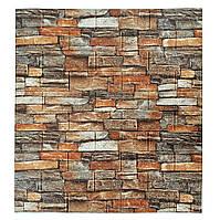 3д стінова панель декоративна Дикий Камінь (миючі 3d панелі для стін) кам'яна кладка 700x770x5 мм