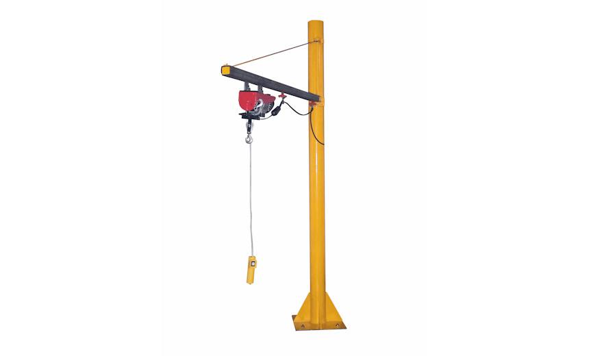 Легкий стреловой кран на колонне с крюковой тележкой HUCHEZ 912, усилие 100 кг