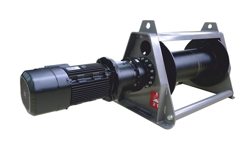 Лебедка электрическая HUCHEZ коаксиальная PL1000 кг/19м/мин/регулятор скорости