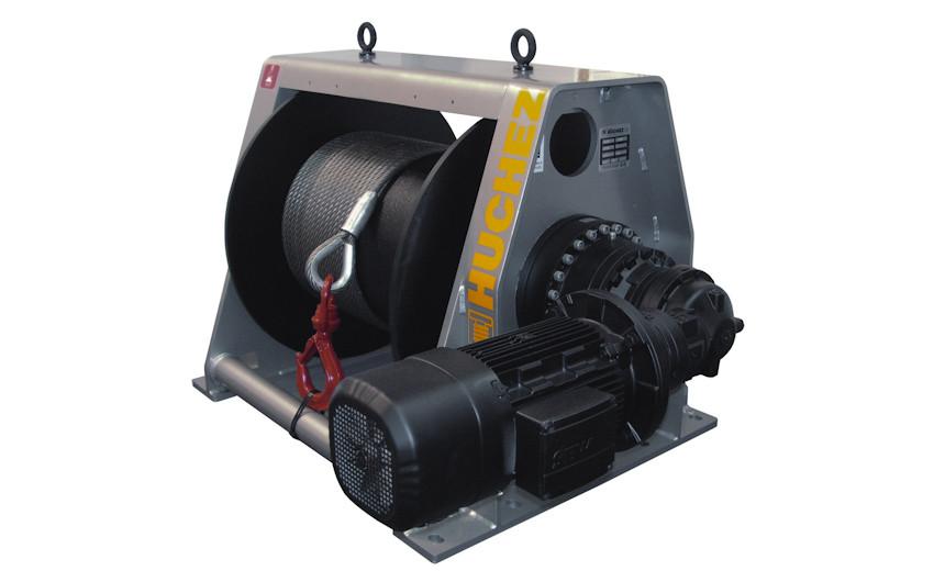 Лебедка электрическая HUCHEZ ортогональная /регулятор скорости/ PL2000 кг/21м/мин