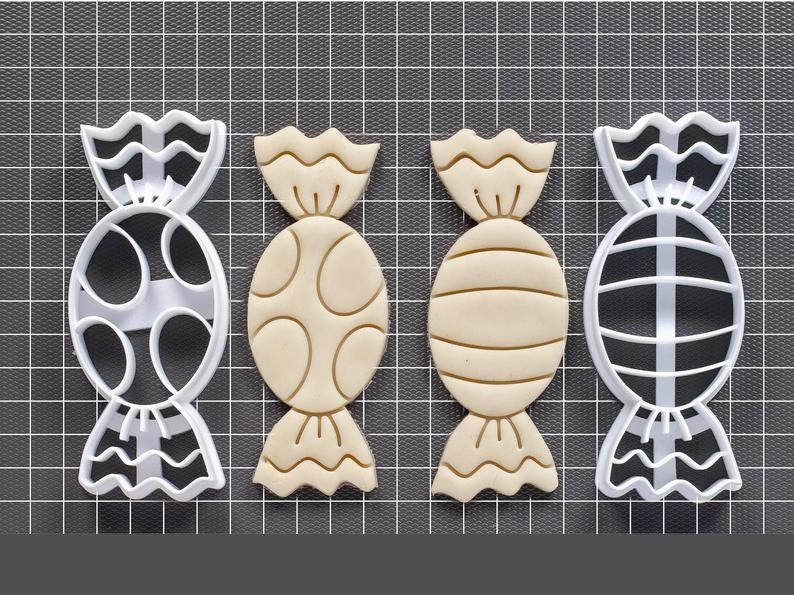 Новогодняя 3D формочка конфеты 2шт. набор | Новогодняя вырубка | Вырубка для печенья новогодняя