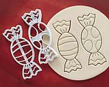 Новогодняя 3D формочка конфеты 2шт. набор | Новогодняя вырубка | Вырубка для печенья новогодняя, фото 2