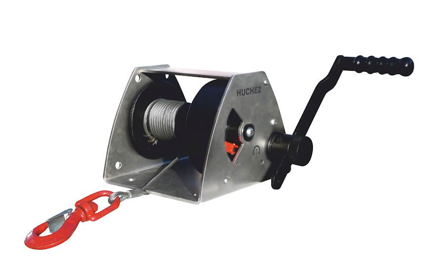 Зубчатая ручная лебедка НUCHEZ MANIBOX GR 530 кг модель с рамой из нержавеющей стали