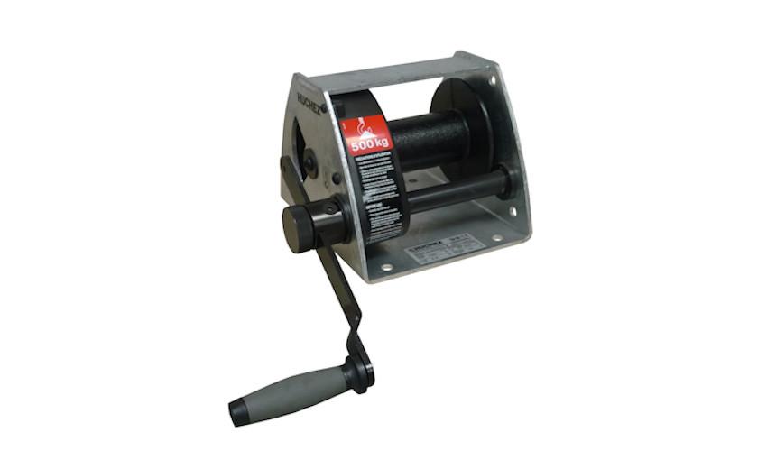 Лебедка с червячной передачей MANIBOX VS 2000 кг, кабель 17 м - модель с рамой из оцинкованной стали