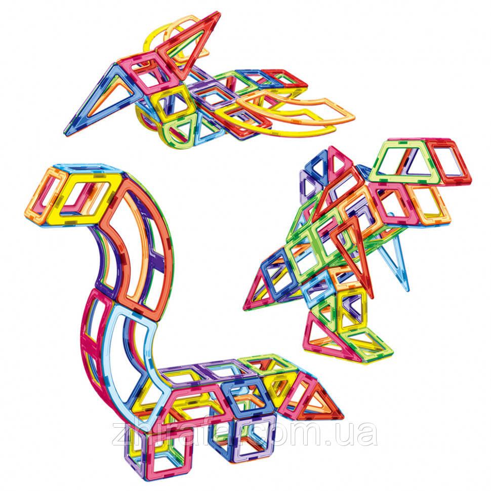 Конструктор магнитный Magnetic Sheet Цветные магниты Динозавры 106 дет