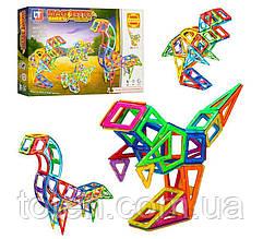 """Магнитный конструктор LT 2003 Magnetic Sheet """"Динозавры"""" 97 деталей"""