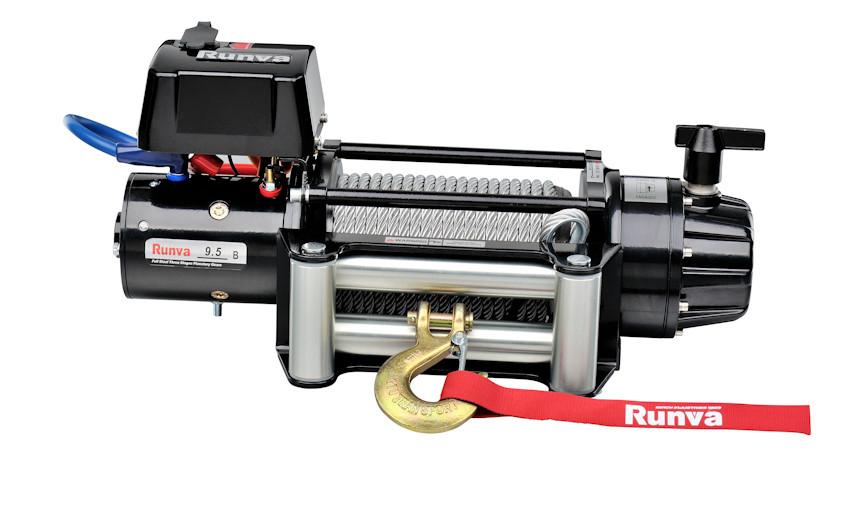 Лебедка электрическая HUCHEZ 12 В для 4х4 EB9500, усилие 4309 кг, текстильный трос