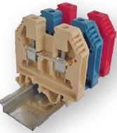 Клемма наборная винтовая mini VS 2.5 PAM (2.5 квадрат мм, бежевая)