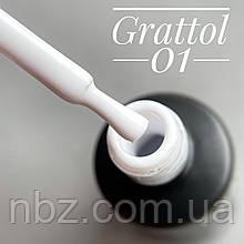 Гель-лак Grattol GTC001 White 9мл